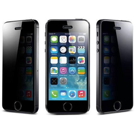 buy popular 73b09 fb739 Spigen iPhone 5S / 5C / 5 GLAS.tR SLIM Privacy Screen Protector