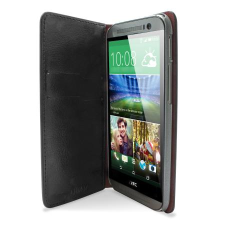 Olixar Leather-Style HTC One M8 Wallet Case - Black