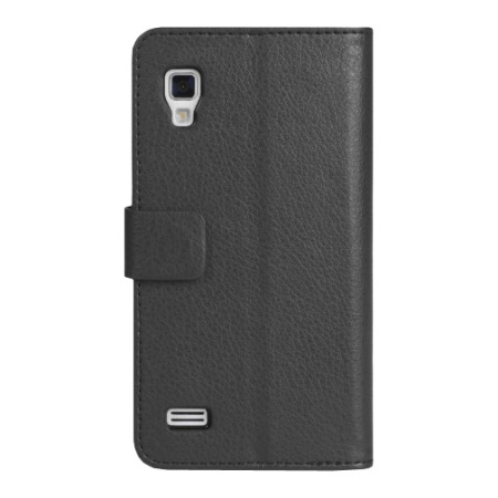 Adarga Stand and Type LG Optimus L9 Wallet Case - Black