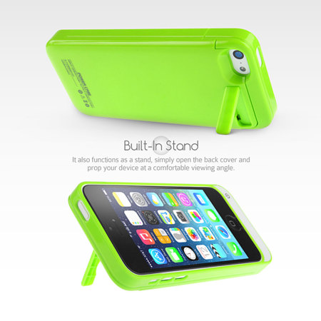 iPhone 5C Power Jacket 2200mAh - Green