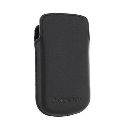 Official BlackBerry 9720 Leather Pocket - Black