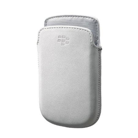 Official BlackBerry 9720 Leather Pocket - White