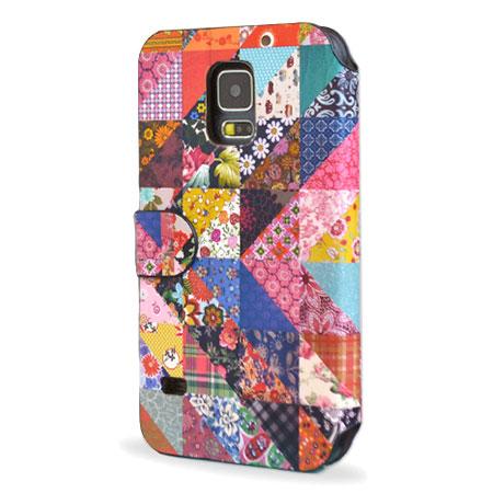 Create and Case Samsung Galaxy S5 Book Case - Grandma's Quilt