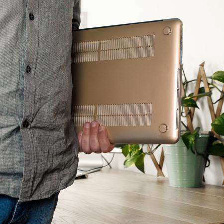 Olixar ToughGuard MacBook Pro 15 Hard Case - Champagne Gold