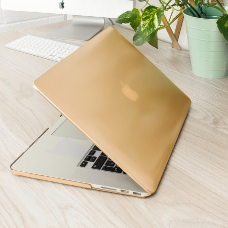 Olixar Toughguard MacBook Pro 15 inch With Retina Hard Case - Gold