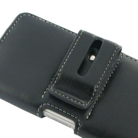 PDair Sony Xperia Z1 Compact Horizontal Leather Pouch Case - Black
