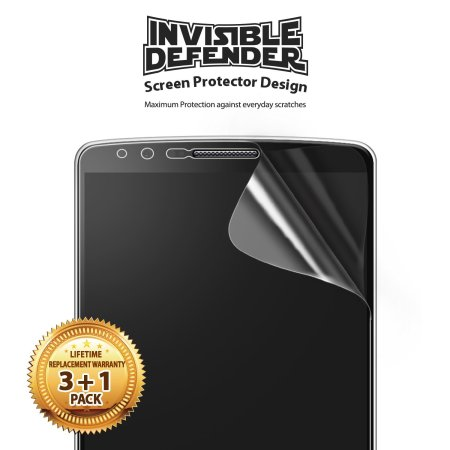 Rearth Invisible Defender 3 + 1 Pack Screen Protector for LG G3