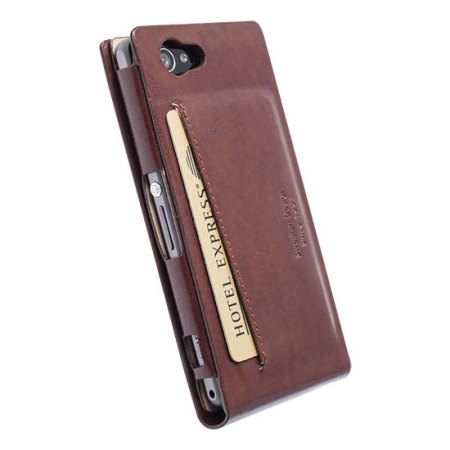 Krusell Kalmar Sony Xperia Z1 Compact Wallet Case - Brown