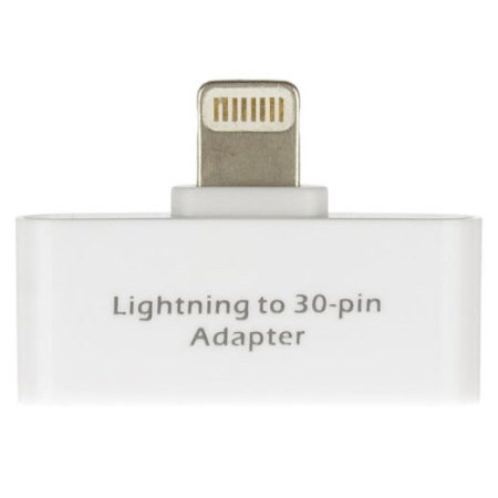 personally recommend kit: lightning to 30 pin adapter for apple devices white all that the