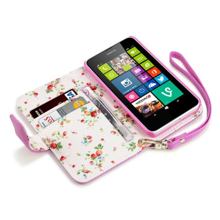 the best attitude 2826a 6718b Nokia Lumia 630 / 635 Leather-Style Wallet Case - Pink