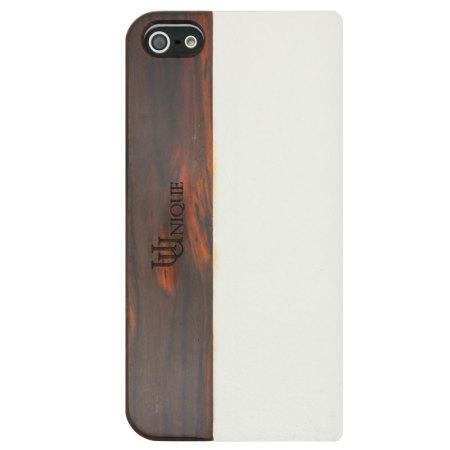 Uunique Heritage Range Folio Hard Shell iPhone 5S / 5  - White