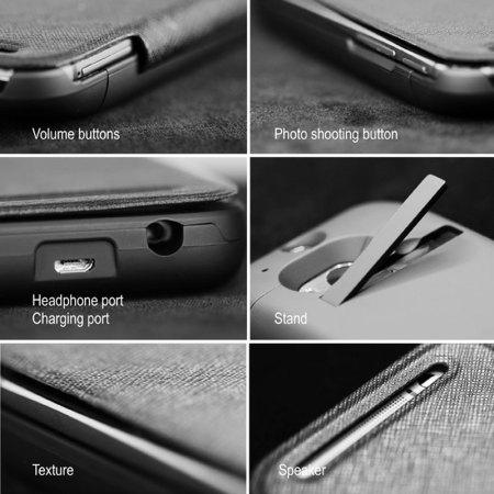 enCharge HTC One M8 Power Jacket Hard Case 4500mAh - Black