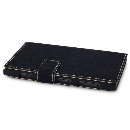 FlexiShield Leather-Style Nokia Lumia 1020 Wallet Case - Black