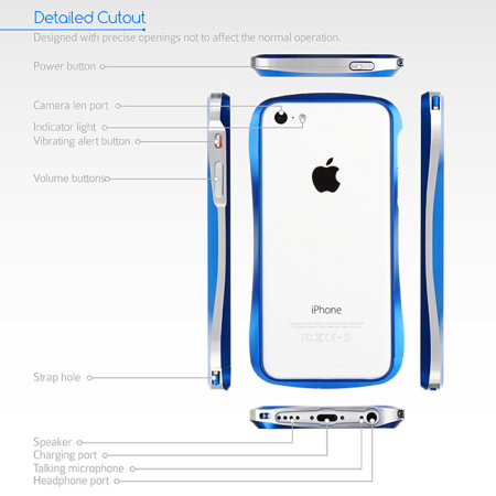 GENx iPhone 5C Aluminium Bumper - Silver