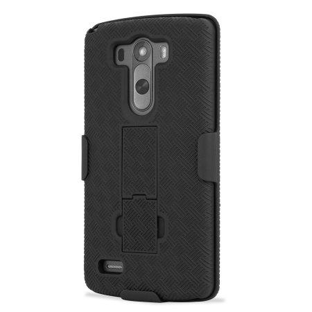 Encase mesh lg g3 tough case holster/belt clip black