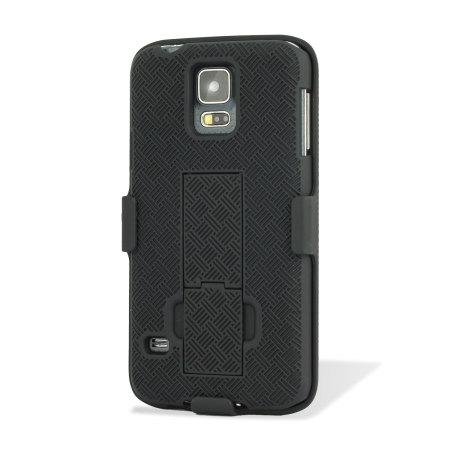 Encase Mesh Samsung Galaxy S5 Tough Case & Holster/Belt Clip - Black