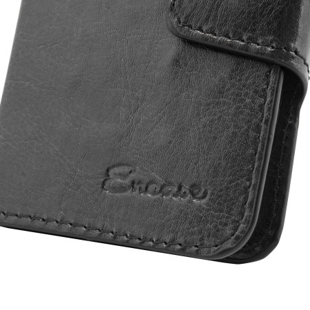 Encase Rotating 4 Inch Leather-Style Universal Phone Case - Black