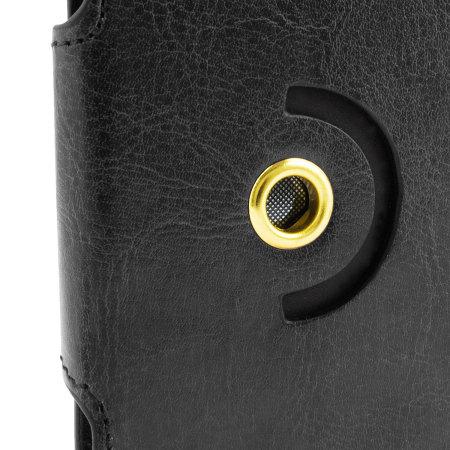 Encase Draaibaar 4 Inch Leren-Stijl Universele Phone Case - Zwart