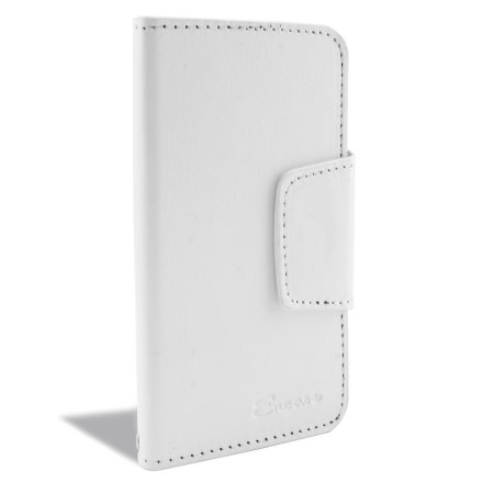 encase rotating 4 inch leather style universal phone case white