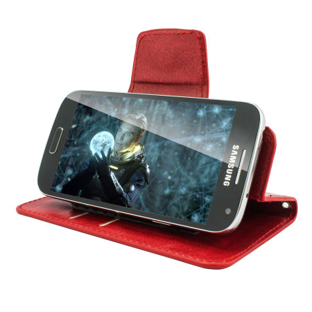 following encase rotating 5 inch leather style universal phone case red case began 2009