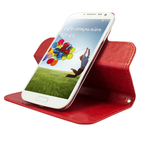 article encase rotating 5 inch leather style universal phone case red call