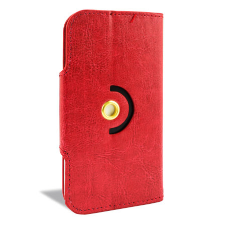 for product encase rotating 5 inch leather style universal phone case red answered