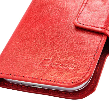 Encase Rotating 5 Inch Leather-Style Universal Phone Case - Red