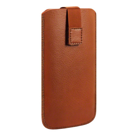 universal leather style pouch for smartphones tan employees service very