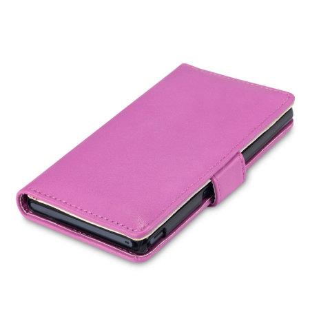 Adarga Sony Xperia Z Wallet Case - Hot Pink