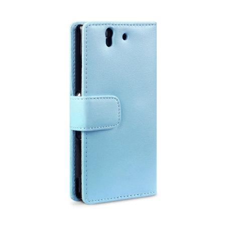 Adarga Sony Xperia Z Wallet Case - Light Blue