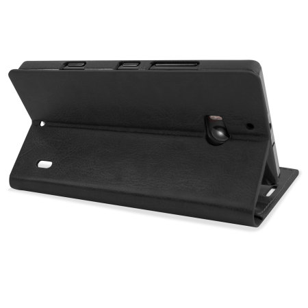 Encase Leather-Style Nokia Lumia 930 Wallet Stand Case - Black