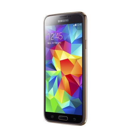 Sim Free Samsung Galaxy S5 Unlocked Gold 16gb P47415