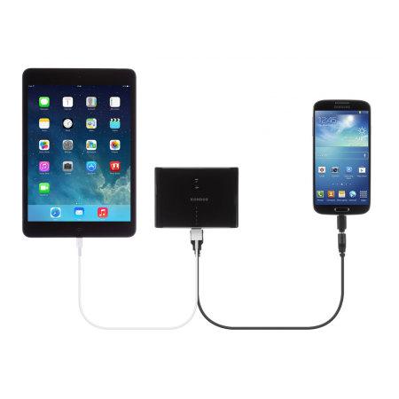 Kit: High Power 10,000mAh Dual USB Portable Charger - Black