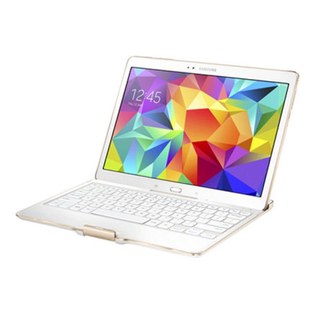 Official Samsung Tab S 10.5 Bluetooth Keyboard Cover - Dazzling White