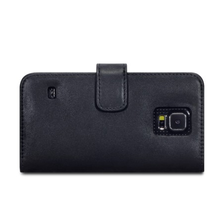 Olixar Genuine Leather Samsung Galaxy S5 Wallet Case - Black