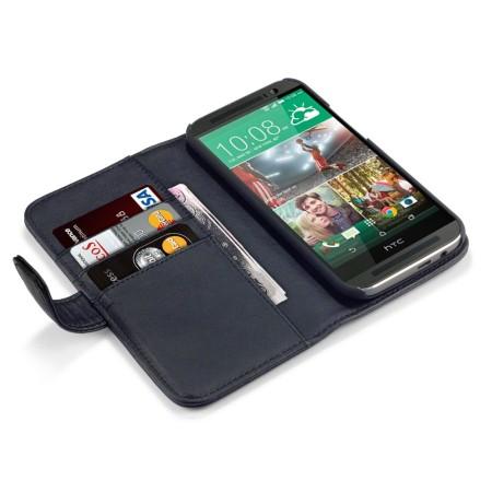 olixar htc one m8 genuine leather wallet case black displays nicely and