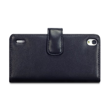 Encase Huawei Ascend P7 Genuine Leather Wallet Case - Black