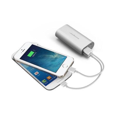 Xoopar Squid Mini 5200mAh Dual USB Power Bank - Silver