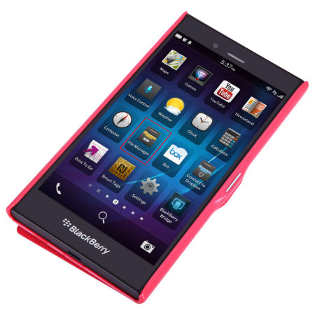 Funda BlackBerry Z3 Nillkin Fresh Faux View - Roja