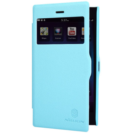 Nillkin Fresh Faux Leather BlackBerry Z3 View Case - Blue