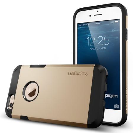 buy popular 2da2e ae5ac Spigen Tough Armor iPhone 6S / 6 Case - Champagne Gold