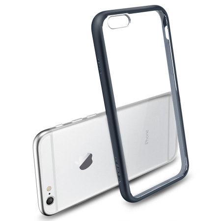 Spigen Ultra Hybrid iPhone 6S / 6 Bumper Case - Metal Slate