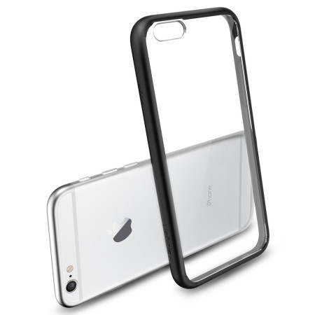 spigen ultra hybrid iphone 6s bumper case - black