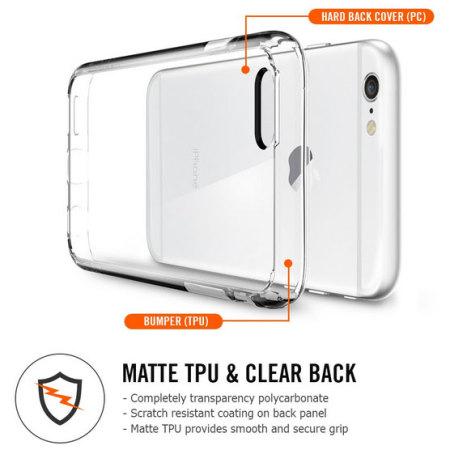 Spigen Ultra Hybrid iPhone 6S / 6 Bumper Case - Crystal Clear
