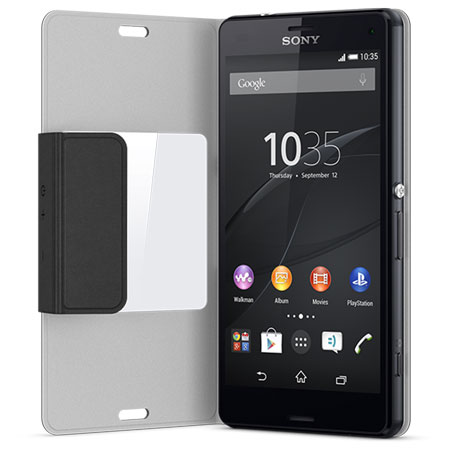 Sony SCR26 Xperia Z3 Compact Style-Up Smart Window Cover - Black