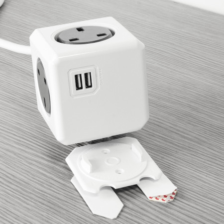 allocacoc PowerCube Extended USB 4x UK Power Plug and 2x USB - 1.5m
