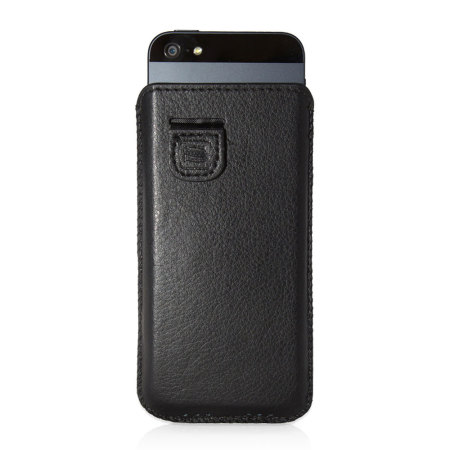 Snugg iPhone 5S / 5 Faux Leather Pouch Case - Black