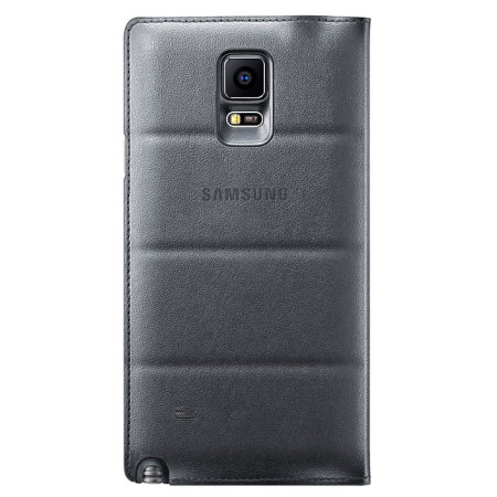 S View Cover Officielle Samsung Galaxy Note 4 – Noire Charbon