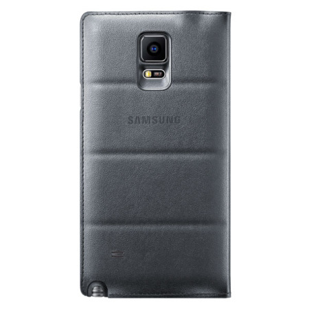 Official Samsung Galaxy Note 4 Flip Wallet Cover - Charcoal Black
