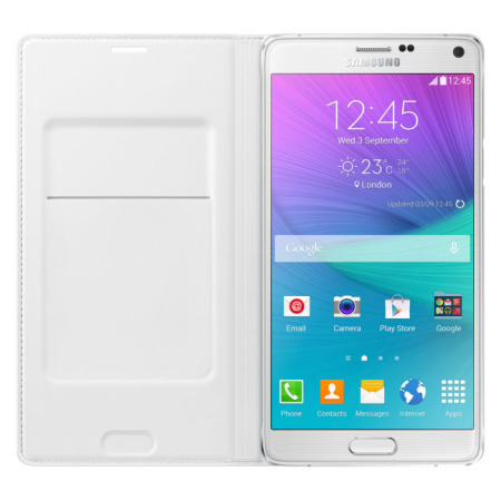 Official Samsung Galaxy Note 4 Flip Wallet Cover - White